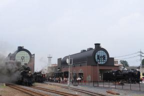 真岡駅・SLキューロク館