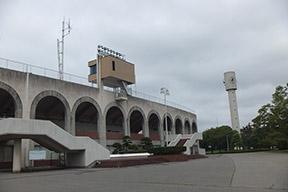 栃木県総合運動公園陸上競技場前