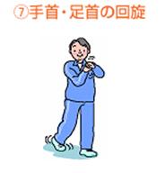 手首・足首の回旋