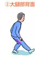 ②大腿部側面